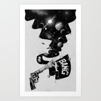 big bang Art Prints featuring Big Bang by Made With Awesome