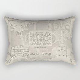 Otto Wagner - Modernist Church Architecture (1898) - Parish Church Währing; Floor Study Rectangular Pillow