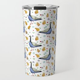Pattern with the Canadian goose. Travel Mug