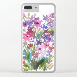 Lavender Mini Fleurs Clear iPhone Case