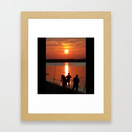 UNDER THE SETTING SUN Framed Art Print