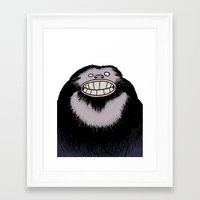 bigfoot Framed Art Prints featuring Bigfoot by FireAwayMarmot