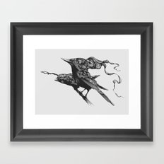 They Talk Together Framed Art Print