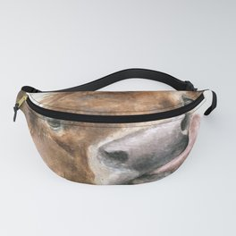 Face baby cattle Fanny Pack