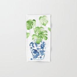Ginger Jar + Monstera Hand & Bath Towel