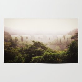 Dream Cloud Forest Hazy Typography Landscape Volcano Rug