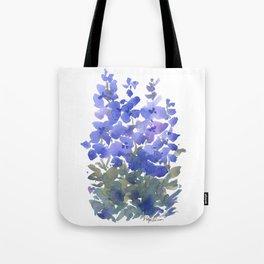 Beautiful Blue Delphiniums Tote Bag