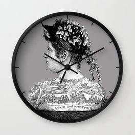 Tattooed Victorian Woman Wall Clock