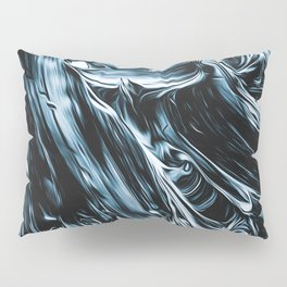 Abstract Chrome Silver Paint I Pillow Sham