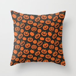 Jack O Lanterns // Halloween Collection Throw Pillow