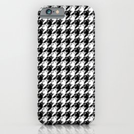 cat houndstooth iPhone Case