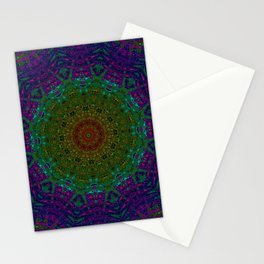 Rainbow Kaleidoscope 4 Stationery Cards