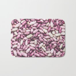 Shiny white and purple cool beans Bath Mat
