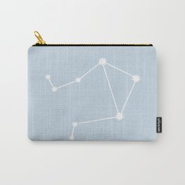 Libra Zodiac Constellation - Pastel Blue Carry-All Pouch
