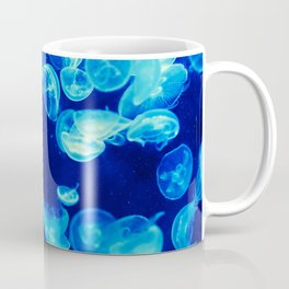 Jellyfish in blue Coffee Mug