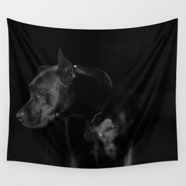 The black dog 7 Wall Tapestry