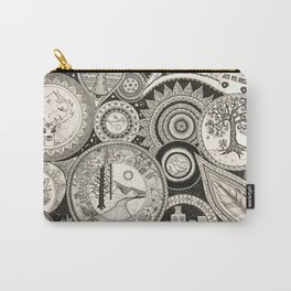 Ink Pen Collage Carry-All Pouch