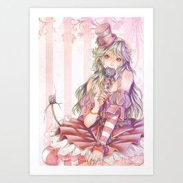 Pink Girl Art Print