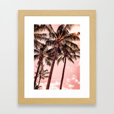Tropical blush Framed Art Print