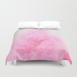 Pink Neon Smoke Clouds Duvet Cover