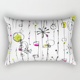 Quirky Icons Rectangular Pillow