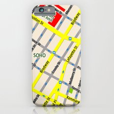 NEW YORK map design - SOHO area Slim Case iPhone 6s