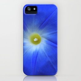 Blue, Heavenly Blue morning glory iPhone Case
