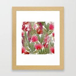 British Seaweed -  collage of vintage botanical illustrations Framed Art Print