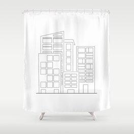 Minimalopolis - Abstract Art Shower Curtain