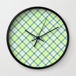 Spring Plaid Wall Clock