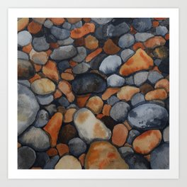 Pebbles on the shore Art Print