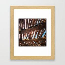 Thatched Roof, Santa Fe, NM Framed Art Print