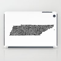 tennessee iPad Cases featuring Typographic Tennessee by CAPow!