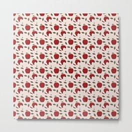 Red Apple Pattern Metal Print