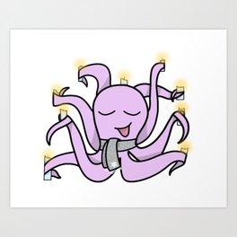 Hanukkah Octopus Art Print