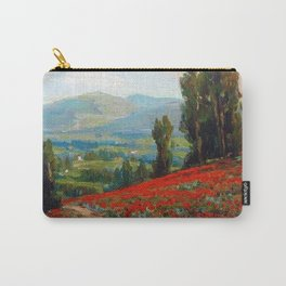 Red Poppies and Eucalyptus by Benjamin Brown Carry-All Pouch