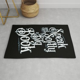 Librarian Speak Softly And Carry A Big Book Quote Rug