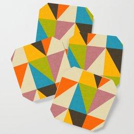 Retro Color Block Chevron Color Fun Coaster