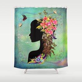 Ladies Fantasy Fashion  Shower Curtain