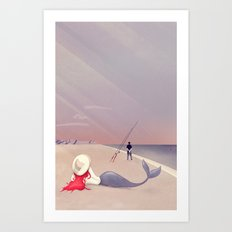 Keep Fishing Art Print