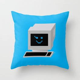 Ol' School Computing Throw Pillow