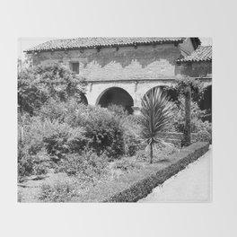 Mission San Juan Capistrano, Serra's Church 1936 Throw Blanket