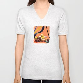 Motorcycle exhaust Unisex V-Neck