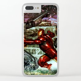 battles between robots Clear iPhone Case