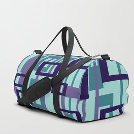 Geometric rectangles pattern violet Duffle Bag