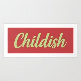 TGFBro Childish Art Print