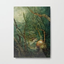 """""""The Frog Prince and the Golden Ball"""" by Edmund Dulac Metal Print"""