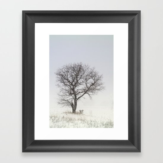 Alone in the Storm Framed Art Print