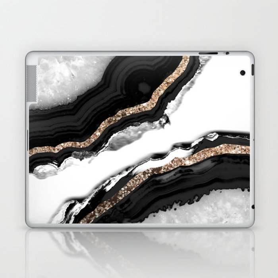 Agate Glitter Glam #2 #gem #decor #art #society6 Laptop & iPad Skin
