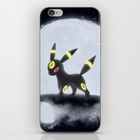 umbreon iPhone & iPod Skins featuring Umbreon by EnaGrapher